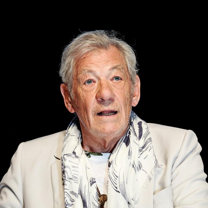 Portrait of Sir Ian McKellen by Julian Hanford