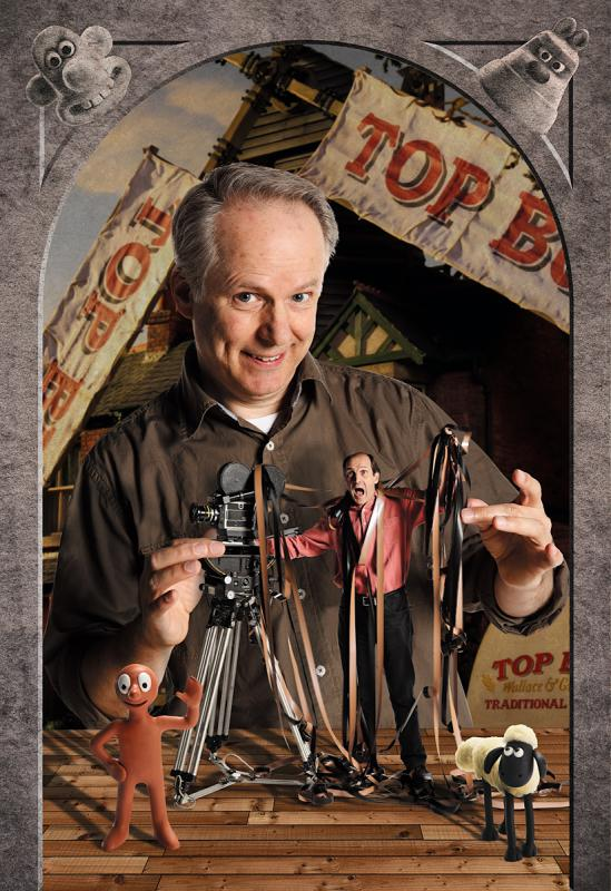 Portrait of Nick Park, Aardman by Julian Hanford