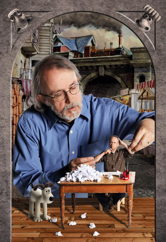 Portrait of Peter Lord, Aardman by Julian Hanford