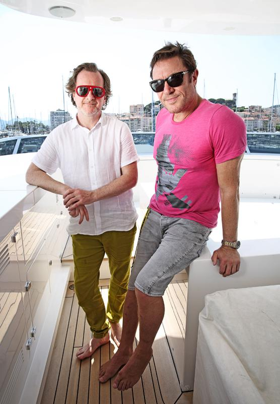 Portrait of Nick Wood and Simon Le Bon by Julian Hanford