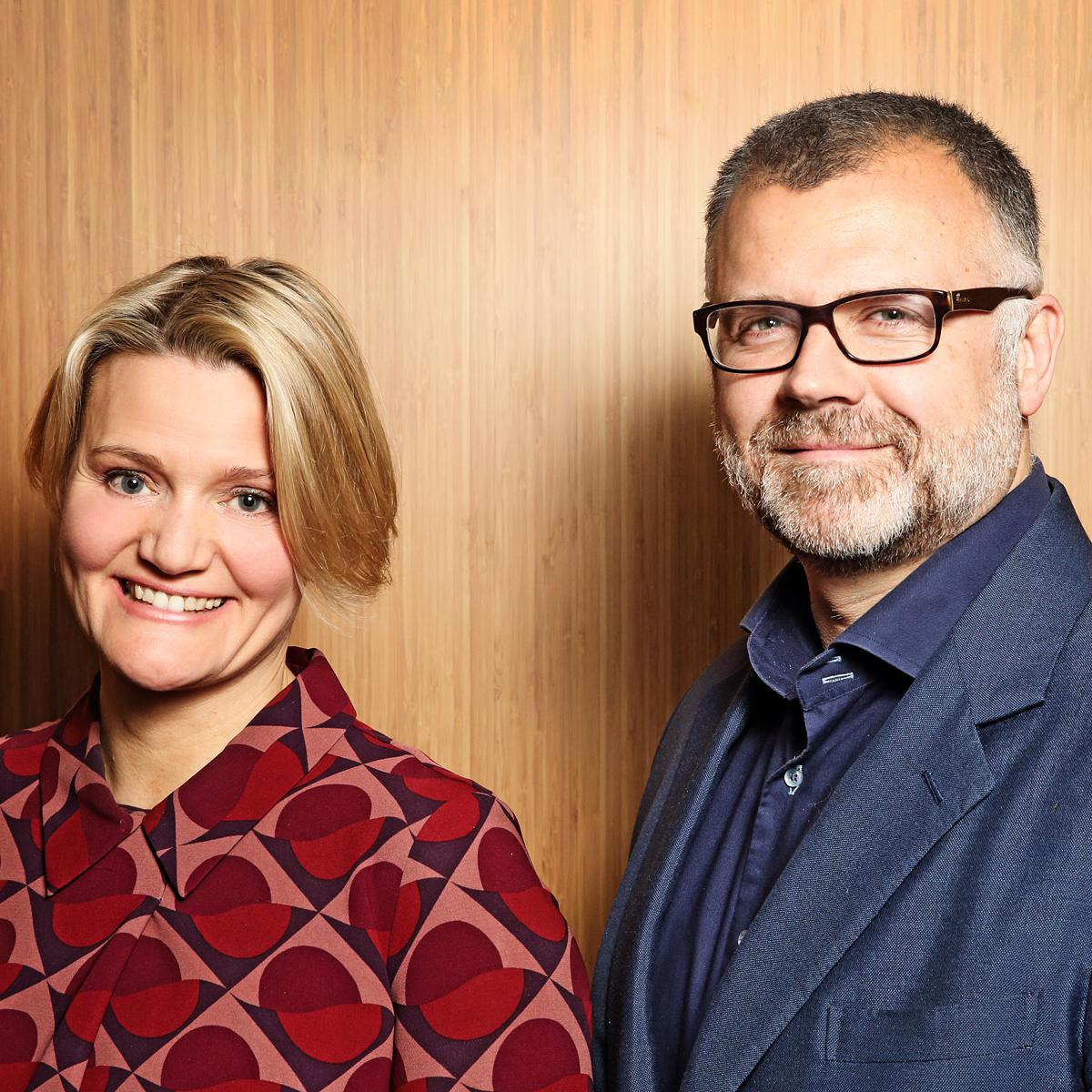 Corporate Photography for London Advertising Agency BBH - Portrait of Alison Hoad and Ben Fennell by Julian Hanford