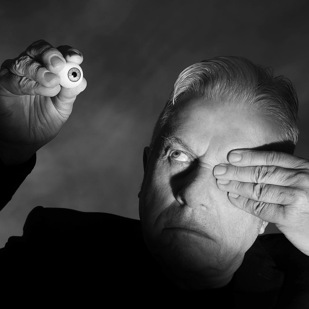 Portrait of Brian Griffin, Photographer by contemporary portrait photographer Julian Hanford