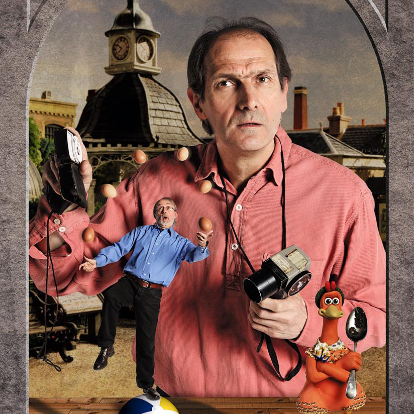 Portrait of David Sproxton, Aardman Animations by Creative photographer Julian Hanford