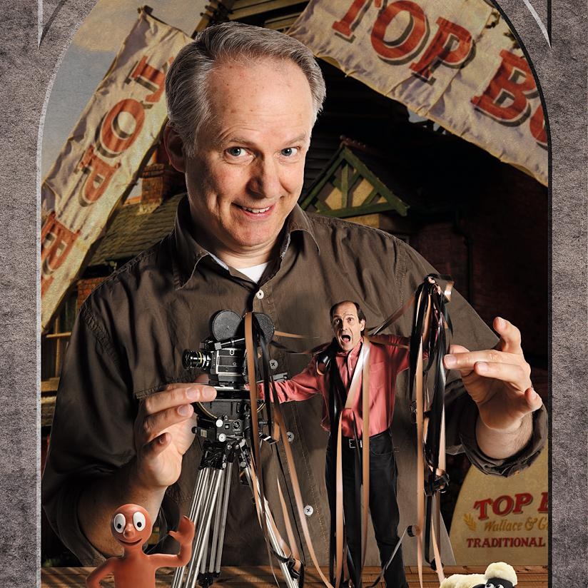 Portrait of Nick Park, Aardman Animations, Contemporary photography by Julian Hanford