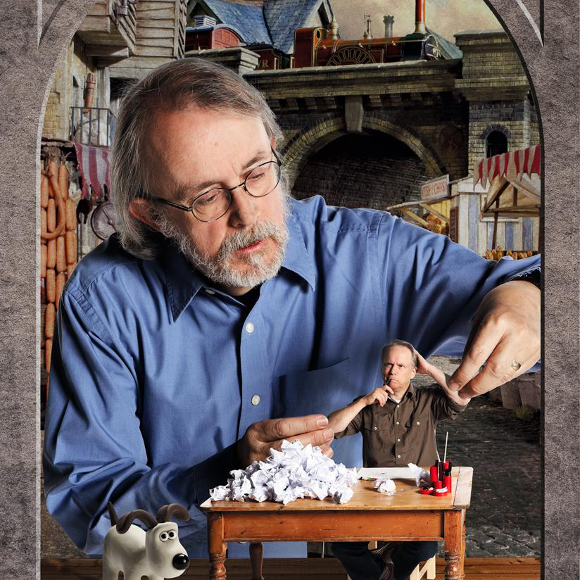 Creative Portrait of Peter Lord, Aardman Animations by London photographer Julian Hanford