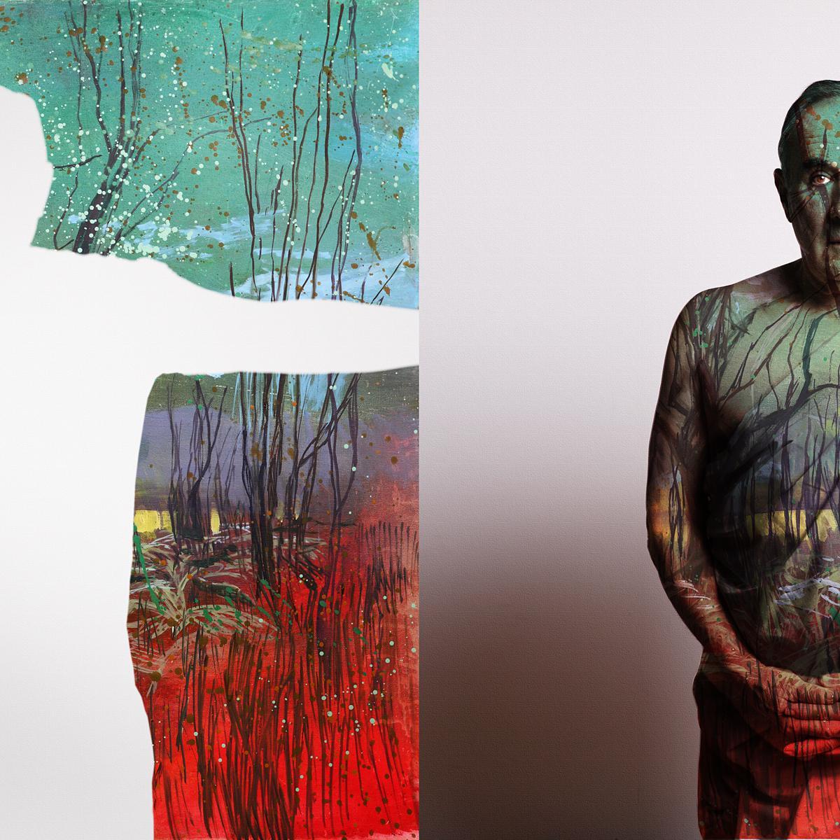Portrait of Alan Waldie, Artist & Creative Director by photographer Julian Hanford