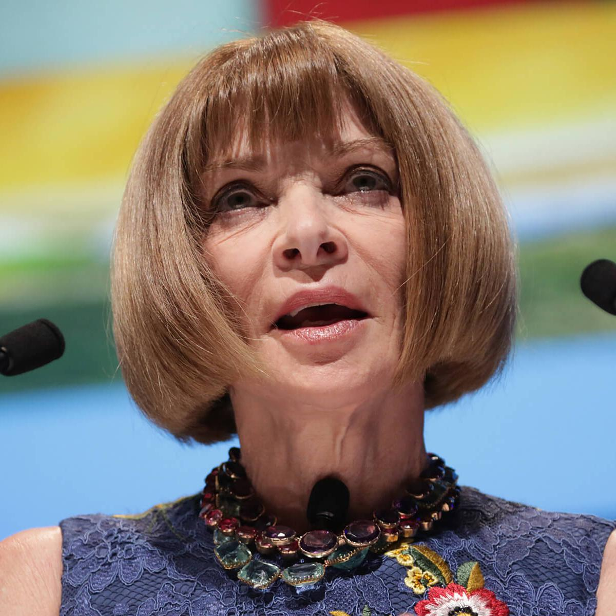 Portrait of Anna Wintour (journalist and editor) by Julian Hanford at Cannes Lions 2017