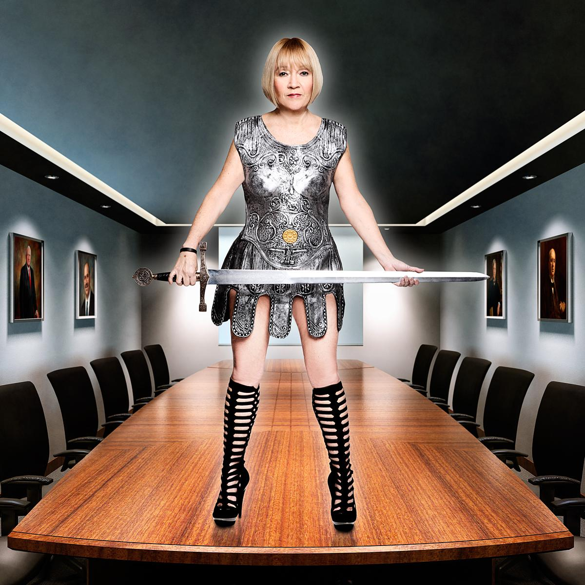 Portrait of Cindy Gallop, Entrepreneur and Business Activist by Julian Hanford