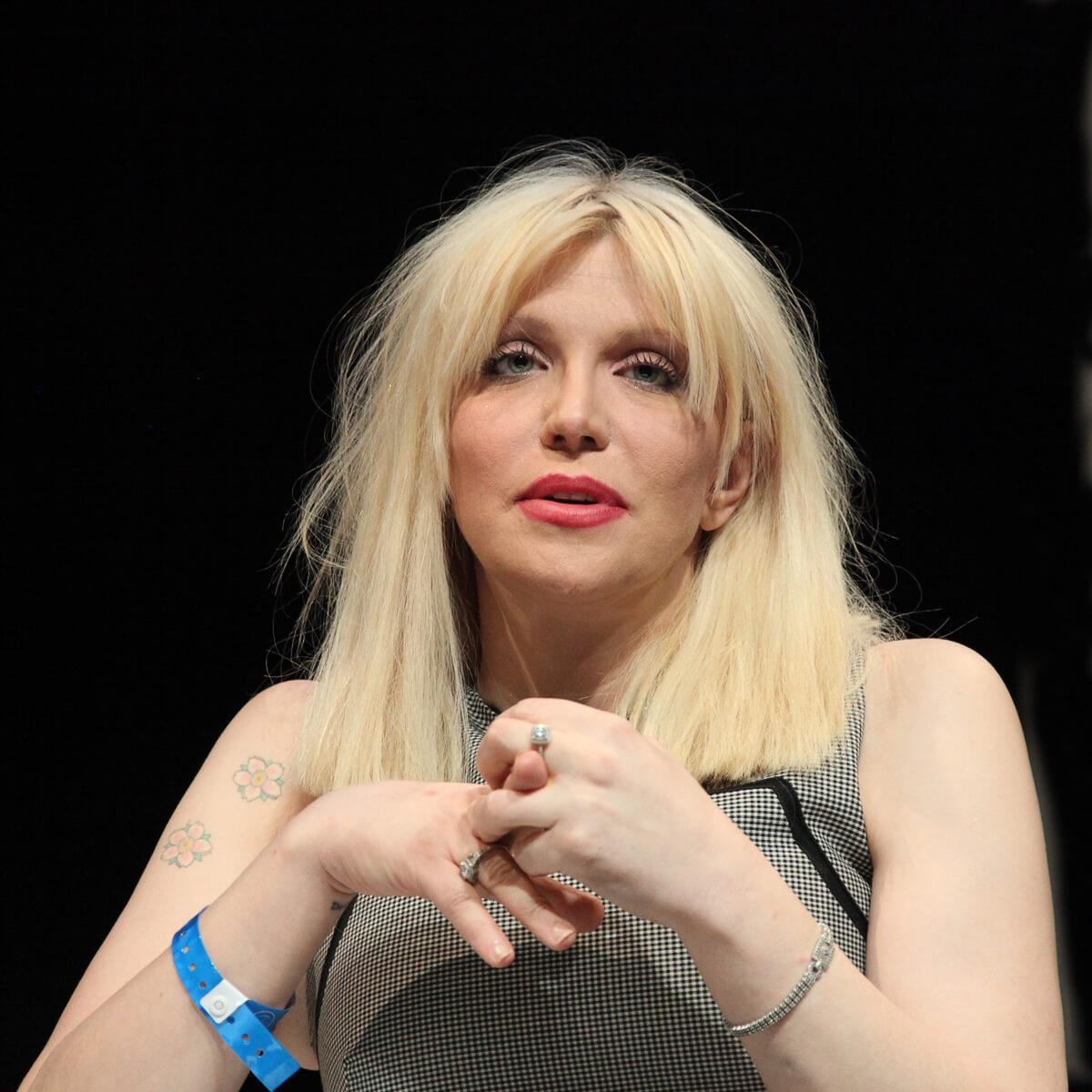 Portrait of singer, songwriter and actress, Courtney Love by Julian Hanford