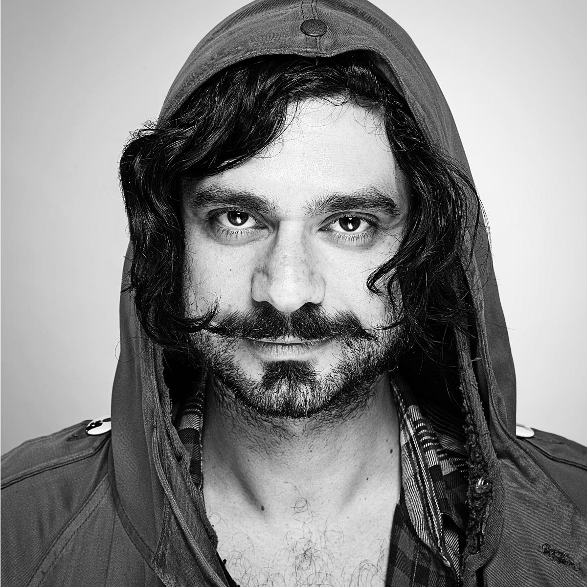 Portrait of Dan Fatel of Elephant Music by creative photographer Julian Hanford