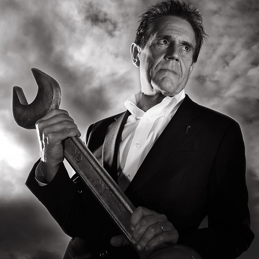 Creative Portrait of Dave Trott, Advertising legend, by photographer Julian Hanford