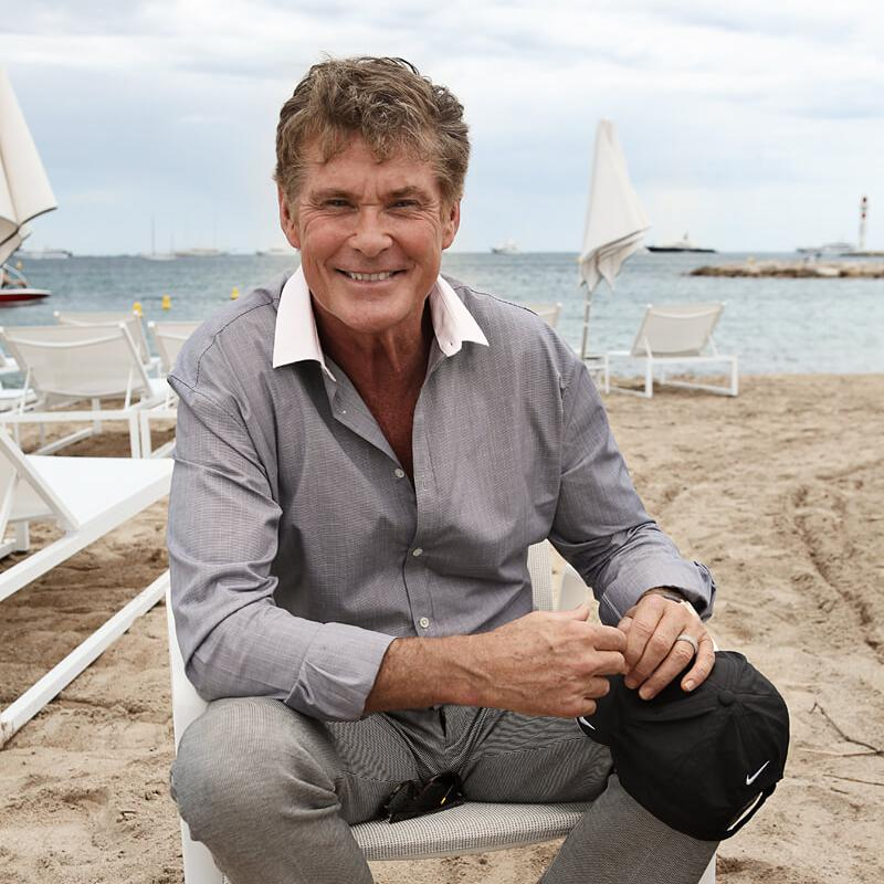 Photograph of American actor David Hasselhoff (The Hoff) by Julian Hanford