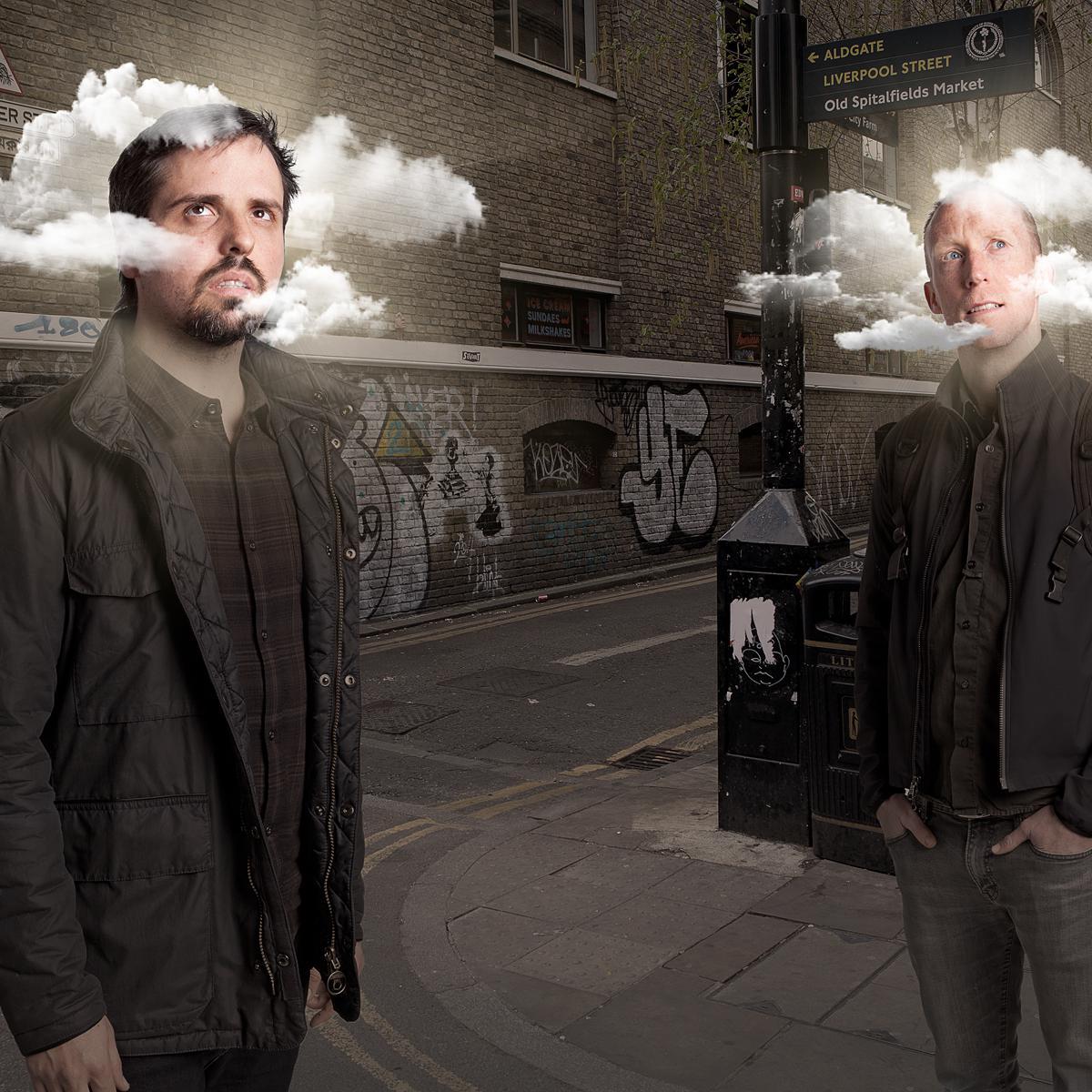 Portrait of Elias Torres & Dan Glover James for The Drum Dream Awards by Julian Hanford