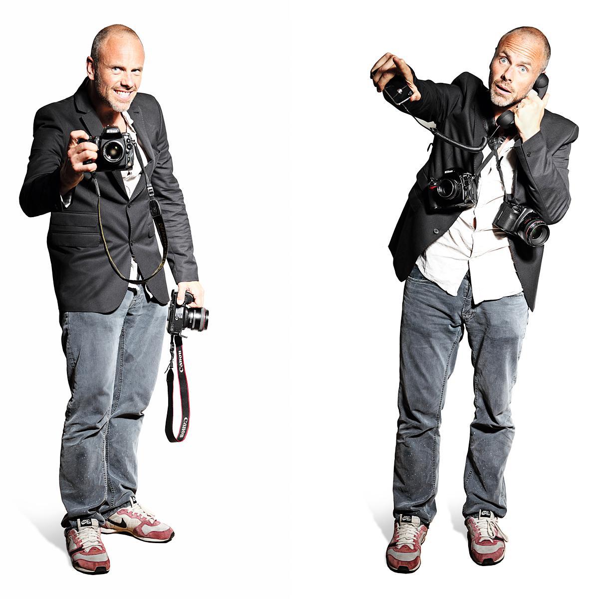 Portrait of Fredrik Bond, Director of Shots Magazine by London photographer Julian Hanford
