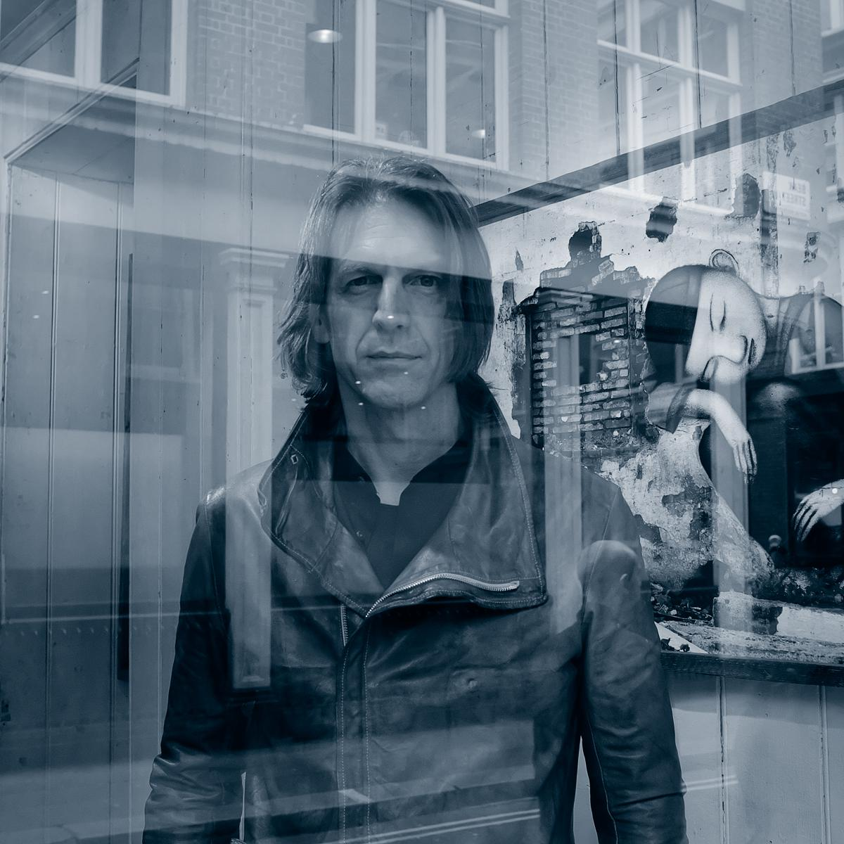 Portrait Photograph of Graham Fink, Artist & Creative by Julian Hanford, London