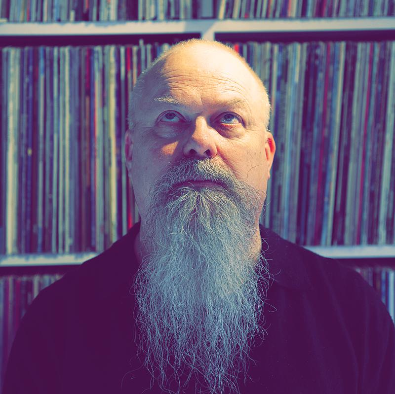 Portrait of Hanspeter Kuenzler, Music Journalist, by creative portrait photographer Julian Hanford