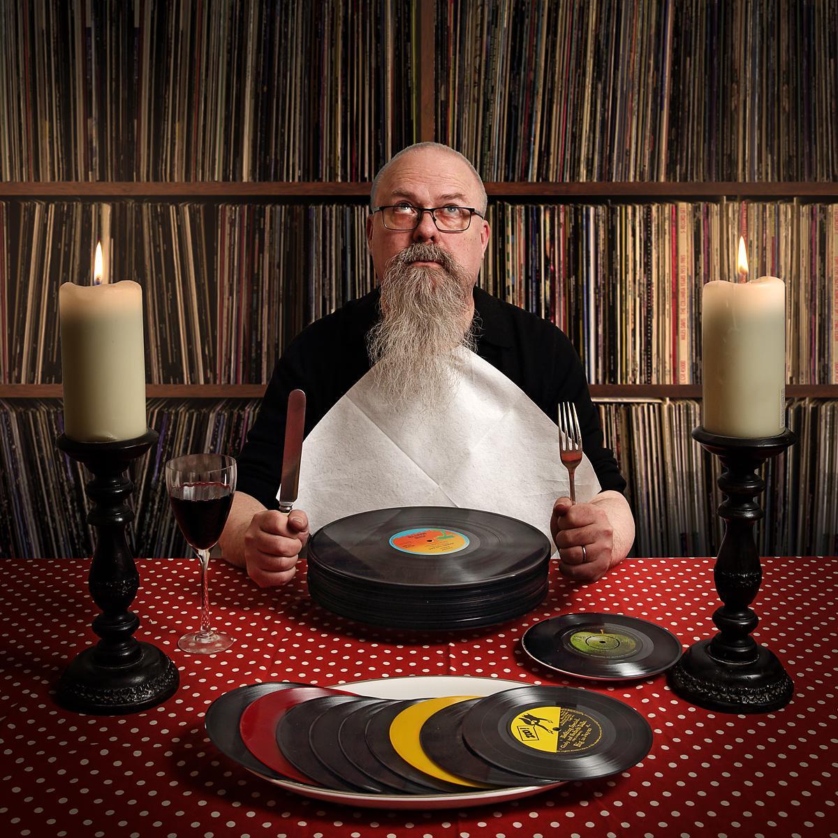 Portrait of Hanspeter Kuenzler, Music Journalist for Schweizer Journalist Magazine by Julian Hanford