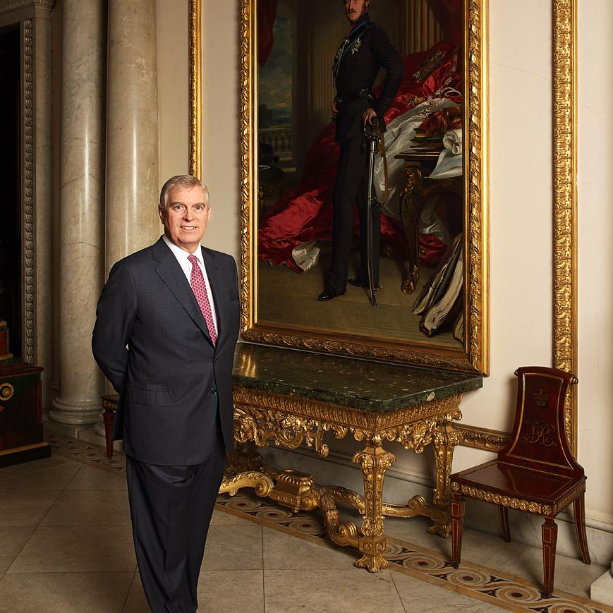 Portrait of HRH Prince Andrew by Contemporary Portrait photographer Julian Hanford