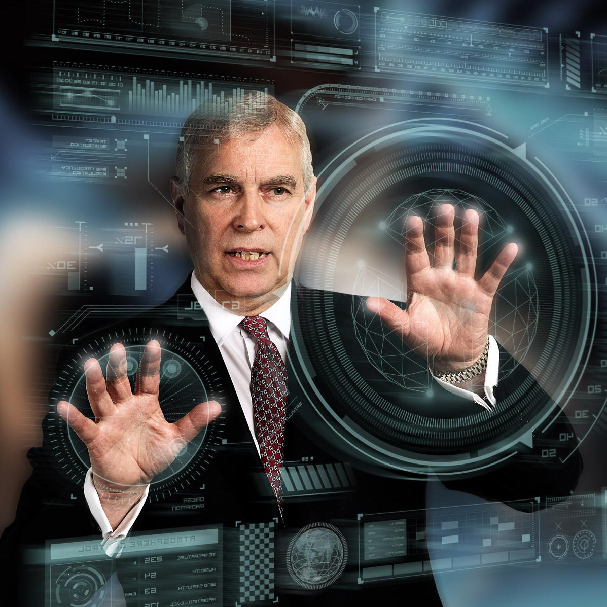Portrait of HRH Prince Andrew by London photographer Julian Hanford