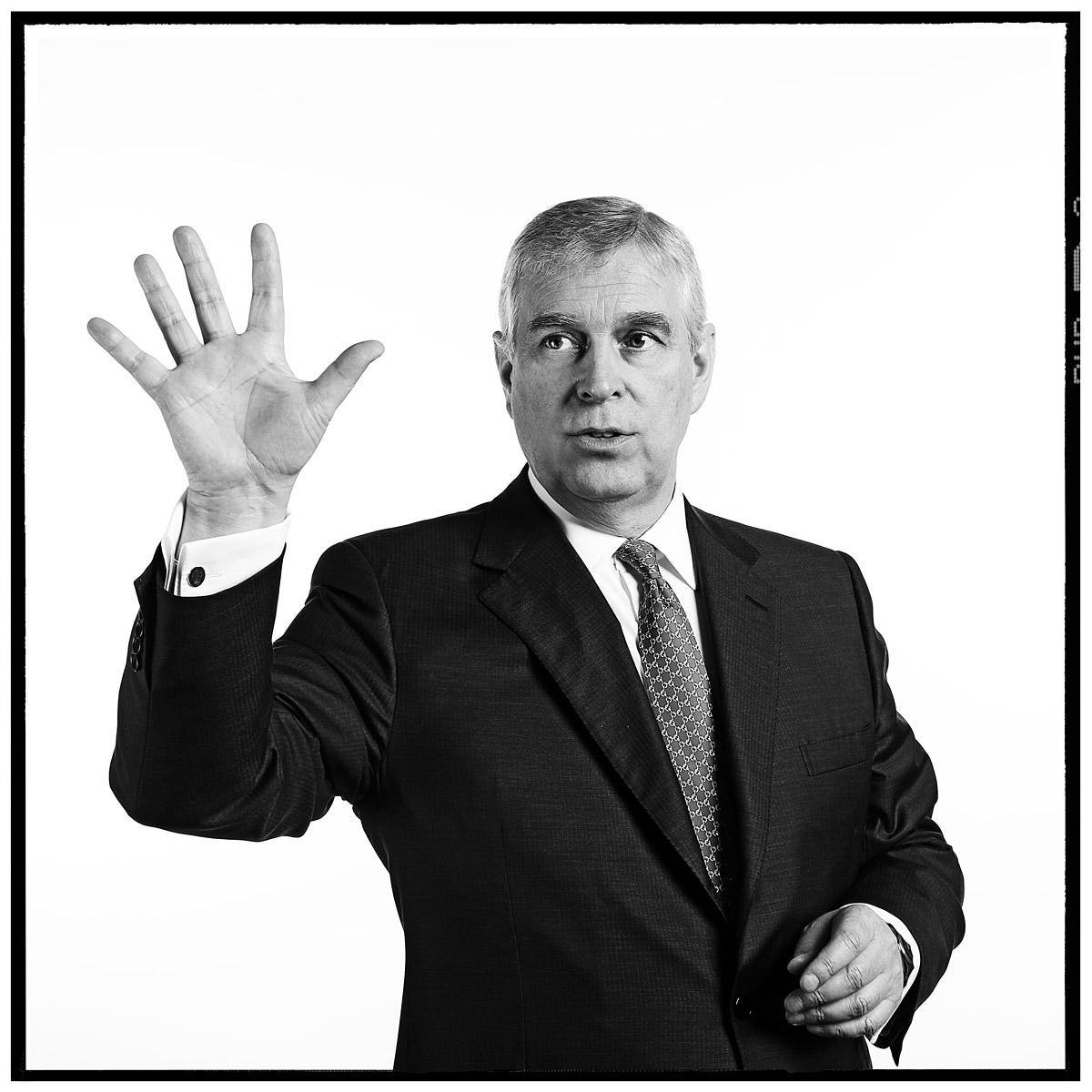 Photograph of HRH Prince Andrew by Contemporary portrait photographer Julian Hanford