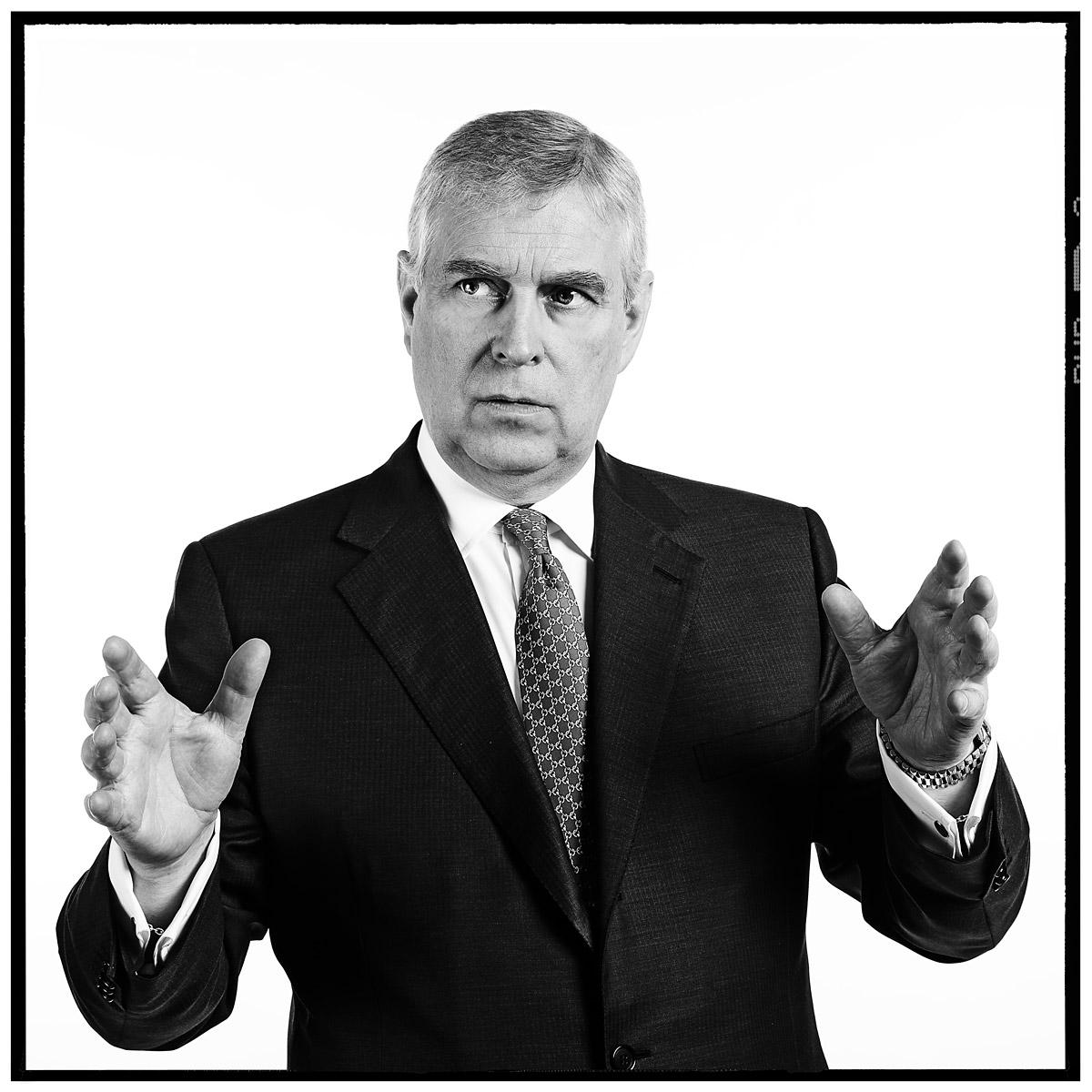 Portrait of HRH Prince Andrew by Contemporary photographer Julian Hanford