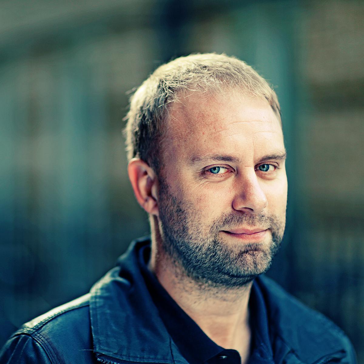 Corporate Portrait of Ian Hopkins (London Studio of Art & Commerce) by Julian Hanford