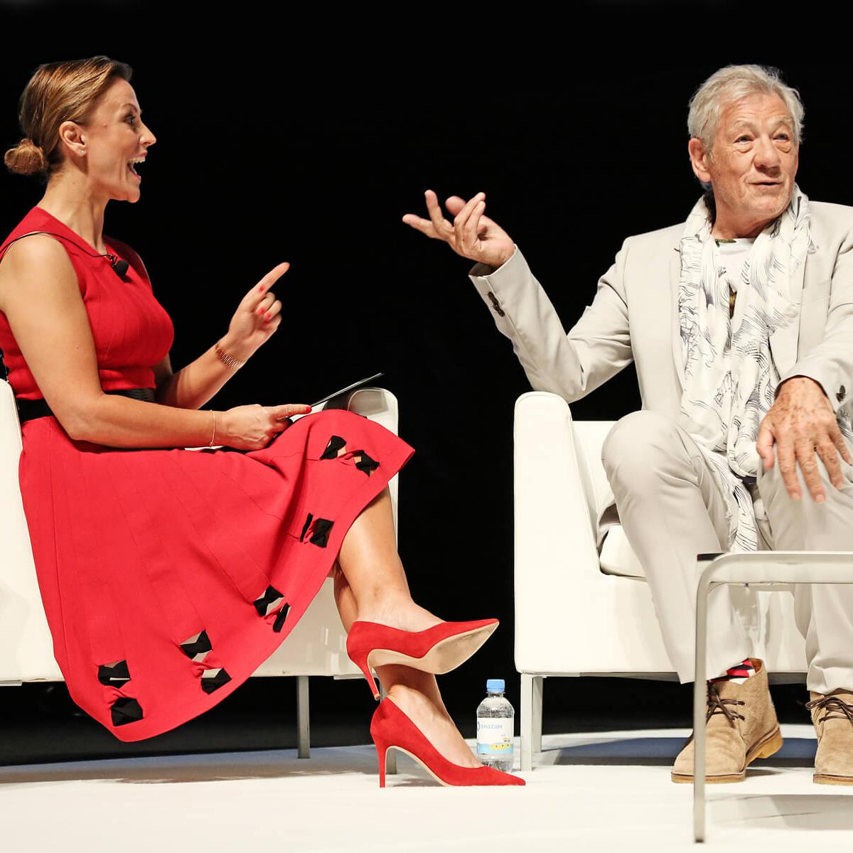 Photograph of Actor, Sir Ian McKellen by Julian Hanford at Cannes Lions 2017