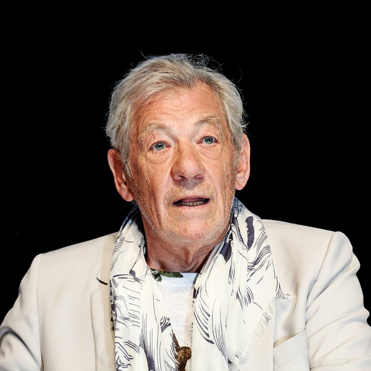 Photograph of Actor, Sir Ian McKellen at Cannes Lions by Julian Hanford