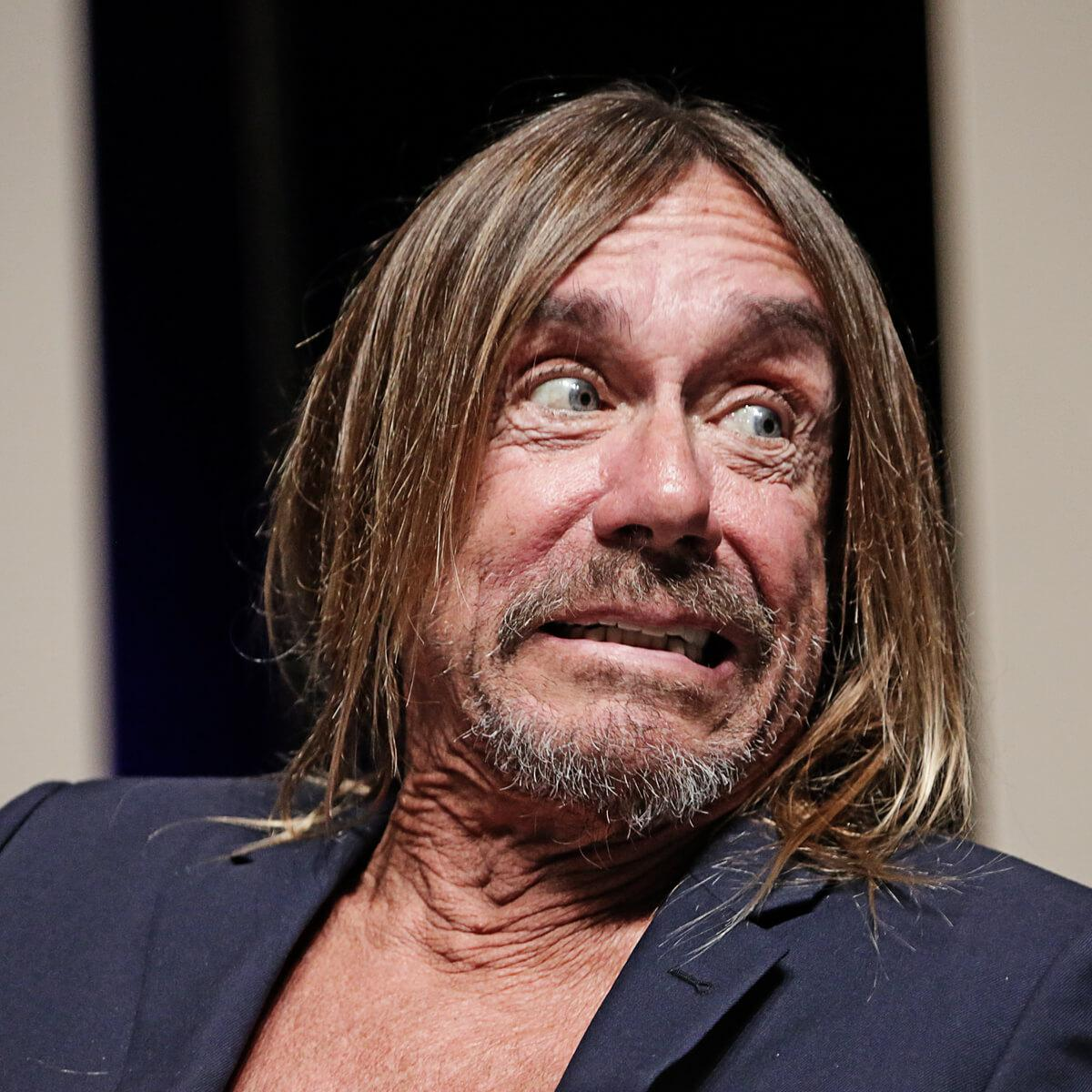 Portrait of musician Iggy Pop by Julian Hanford at Cannes Lions Festival of Creativity 2017