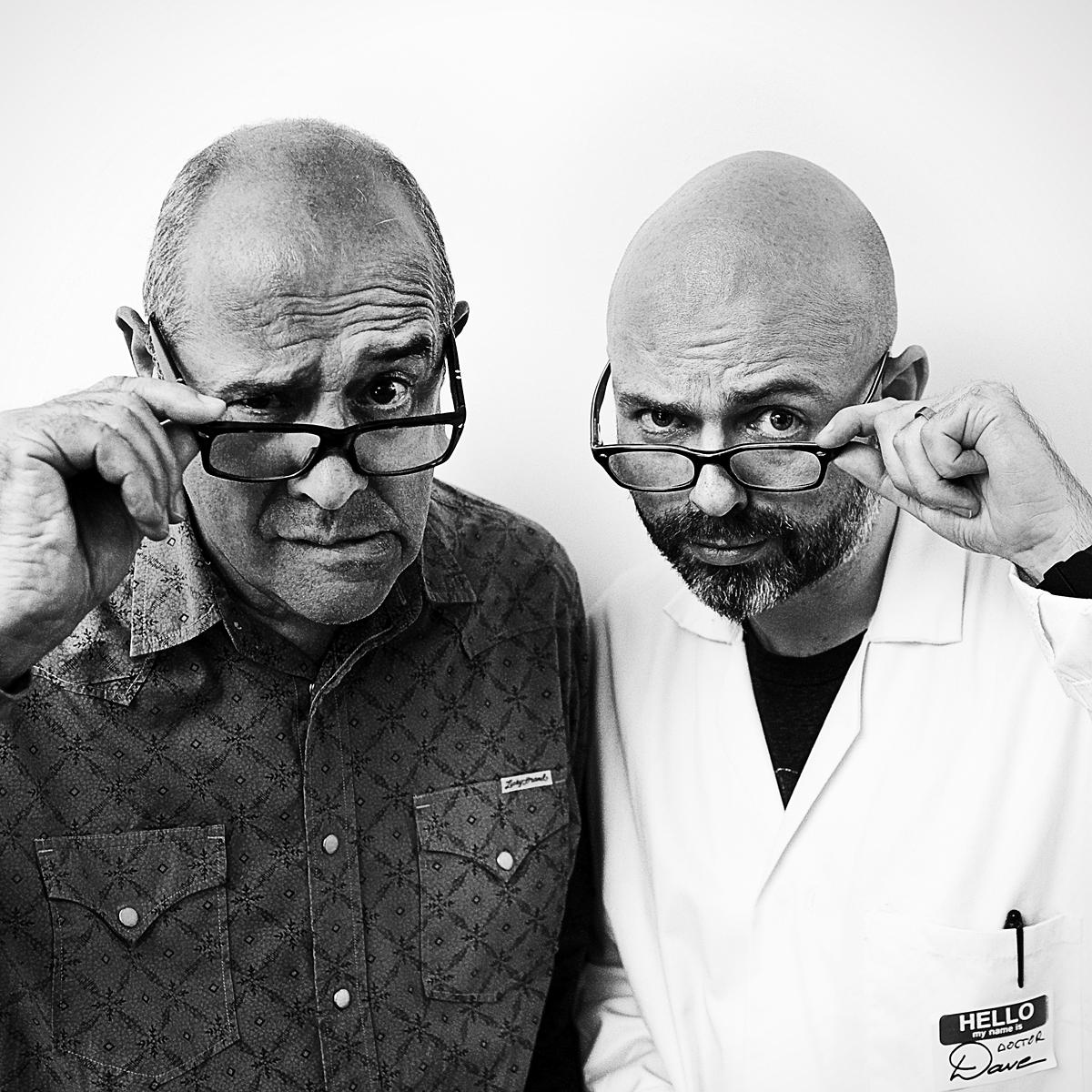 Portrait of creative directors John Jessup & Dave Birss by Julian Hanford for The Drum
