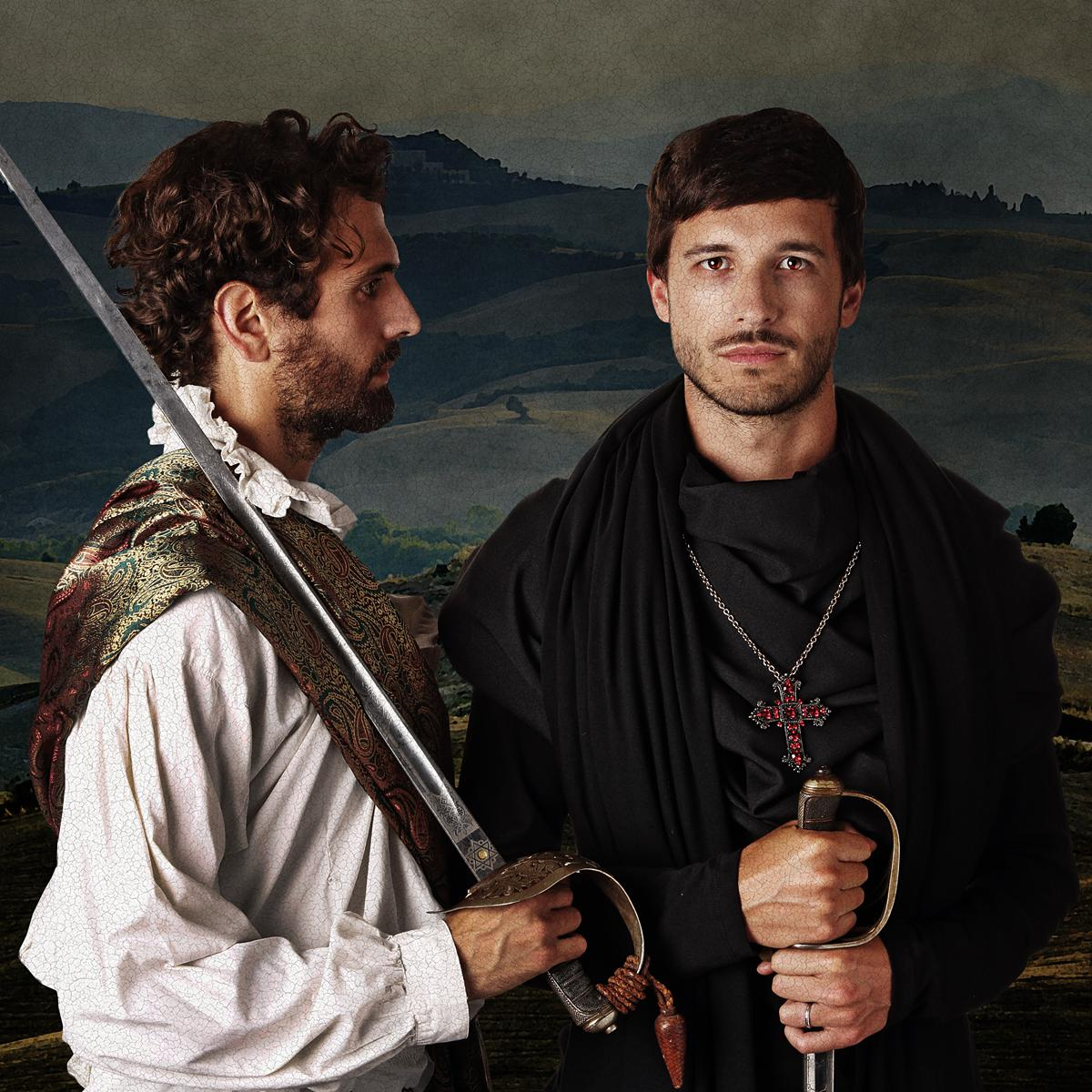 Creative Costume Portrait of Jonathan Cohen & Anthony Jorge by Julian Hanford