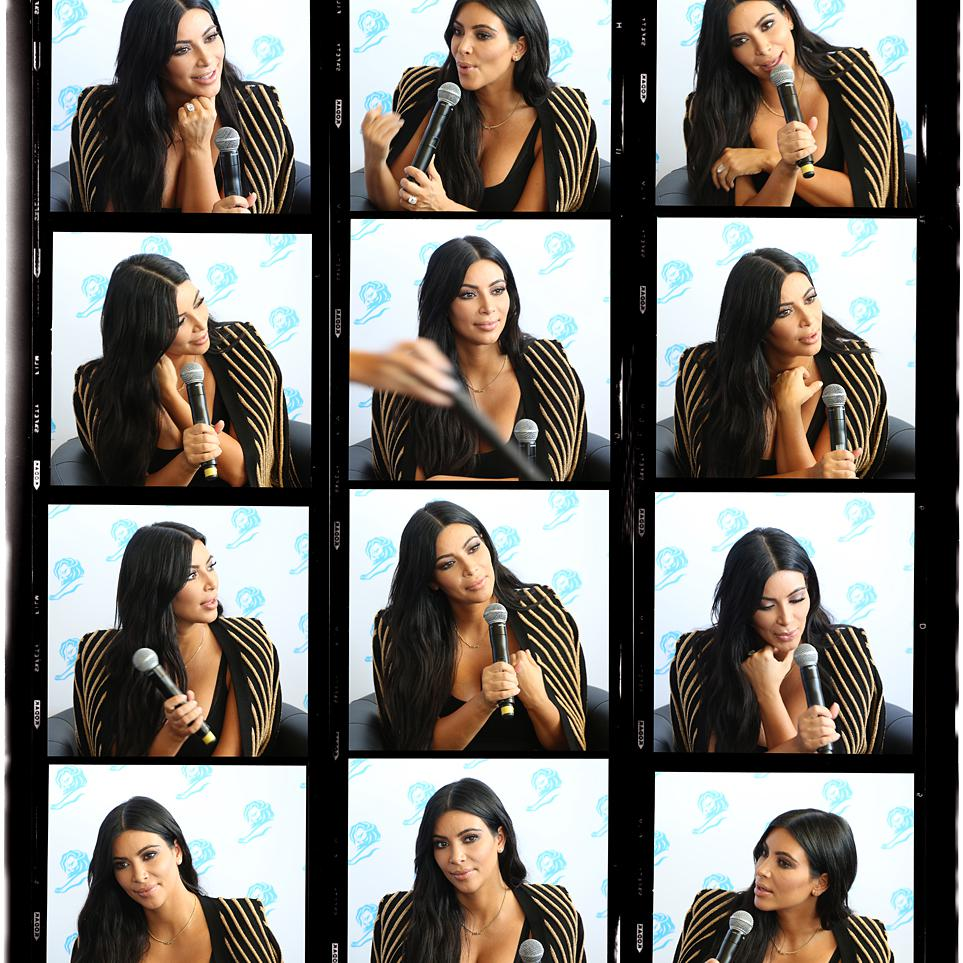 Portrait of Media Personality & Entrepreneur Kim Kardashian by photographer Julian Hanford