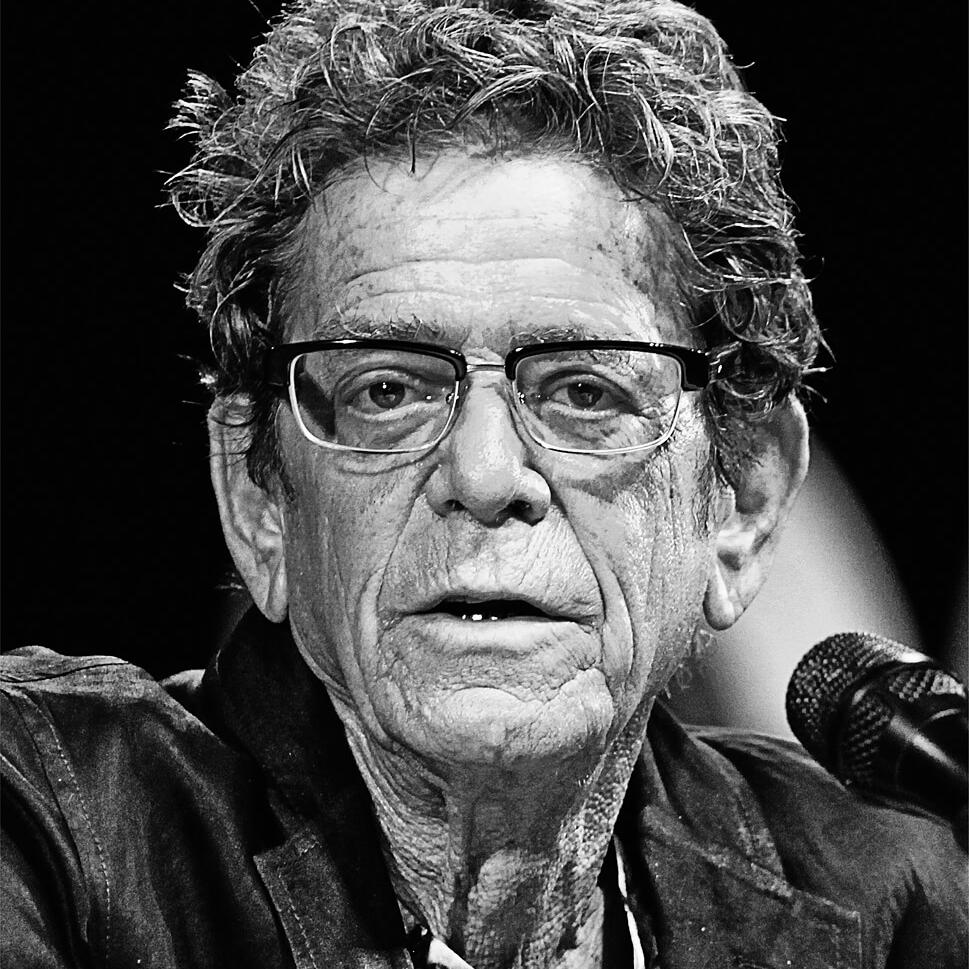 Photograph of American Musician Lou Reed in 2017 at Cannes Lions by Julian Hanford, London