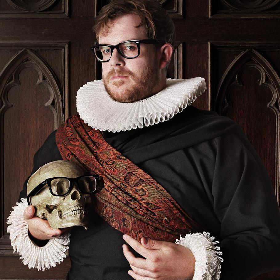 Portrait of Luke Bellis - creative costume photography by Julian Hanford