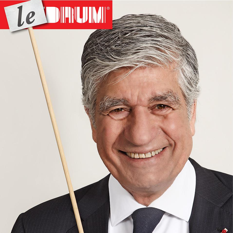 Portrait of Maurice Levy, CEO of Publicis Group for The Drum by Julian Hanford