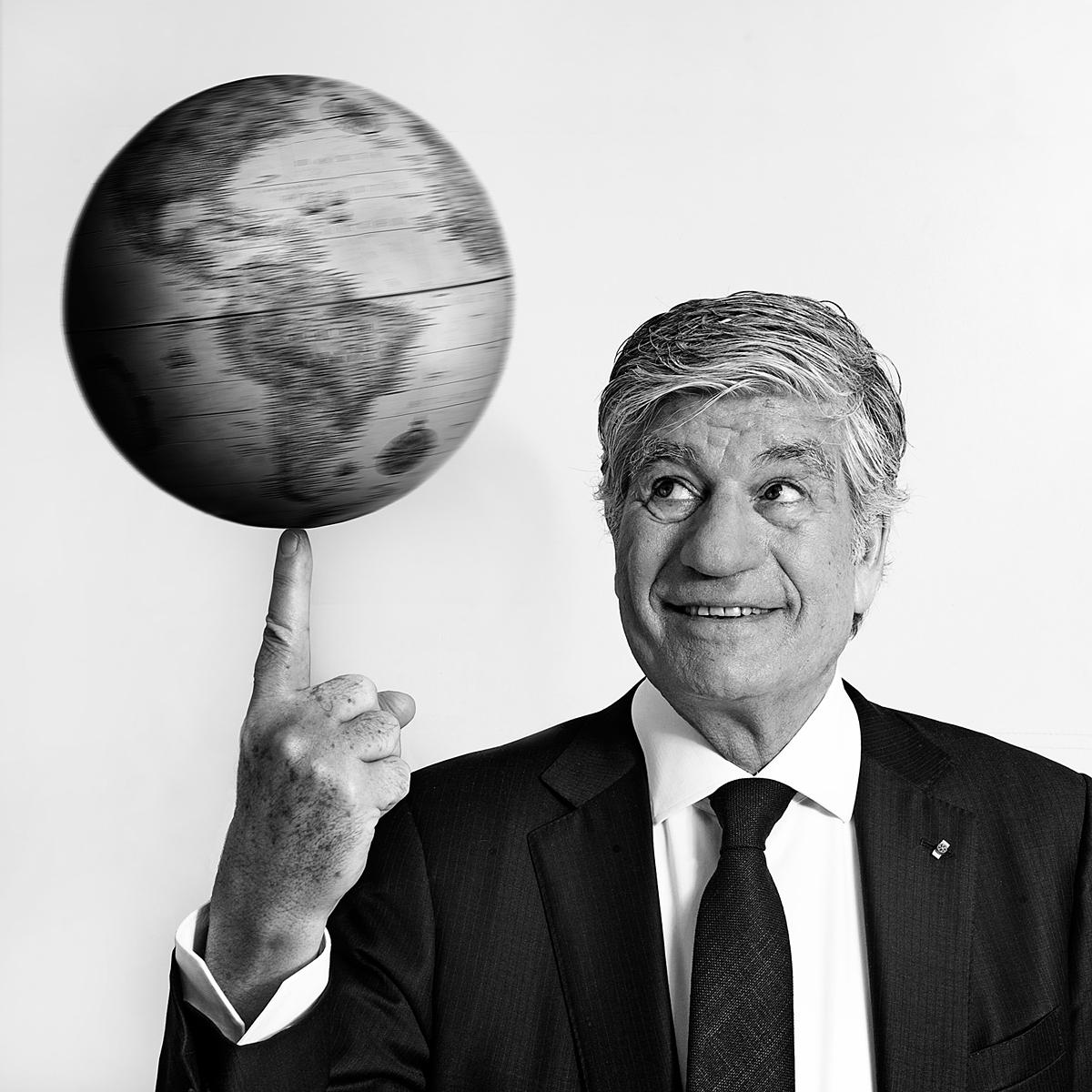 Photograph of Maurice Levy, CEO of Publicis Group for The Drum by Julian Hanford
