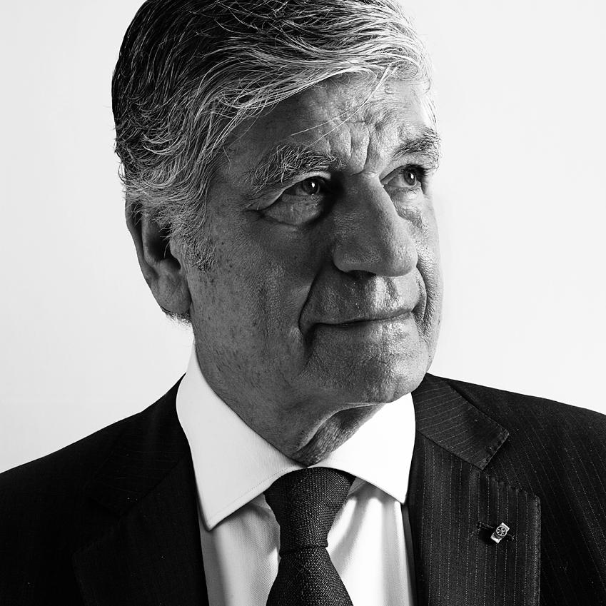 Portrait Photograph of Maurice Levy, CEO of Publicis Group by Julian Hanford