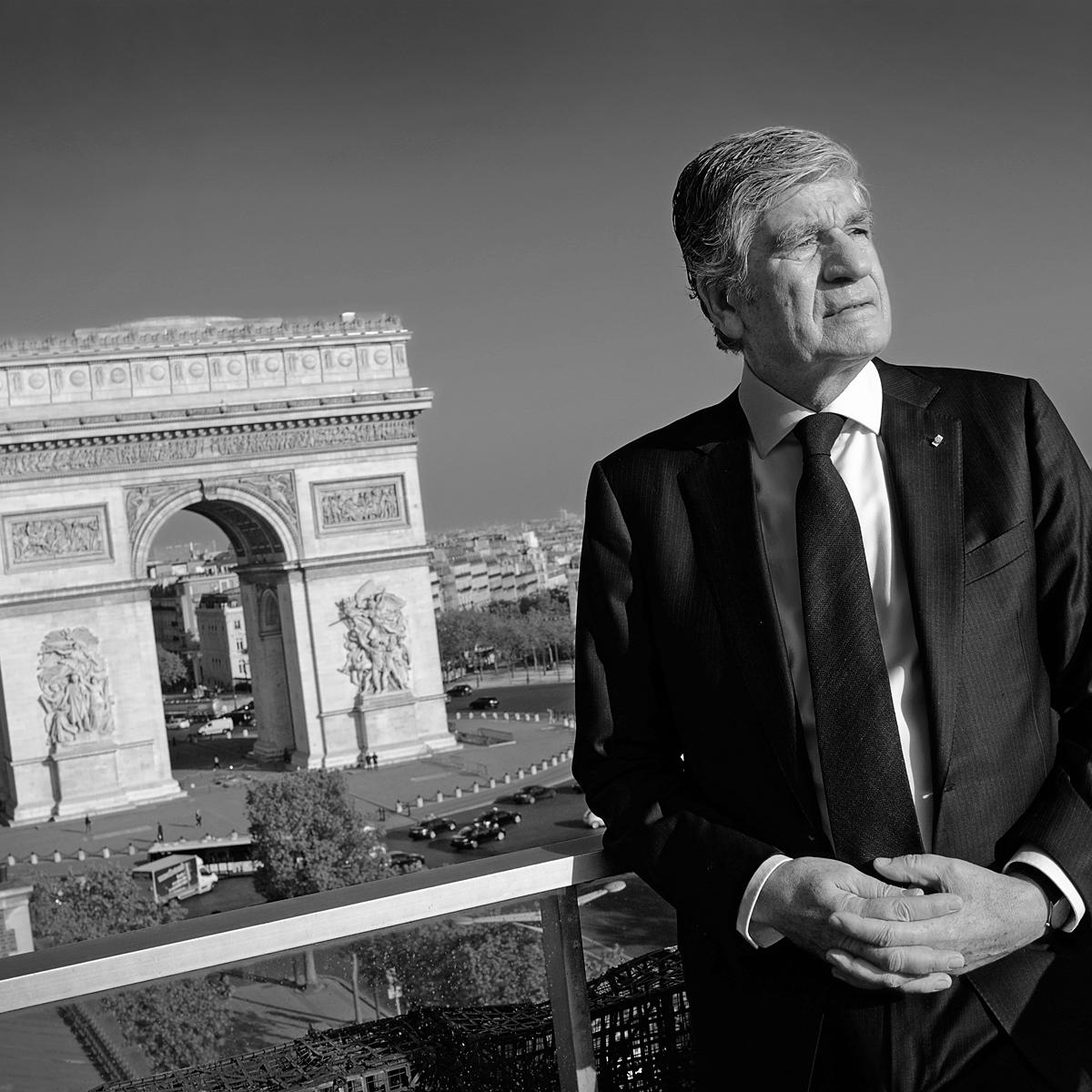 Maurice Levy, CEO of Publicis Group - Portraiture by Julian Hanford