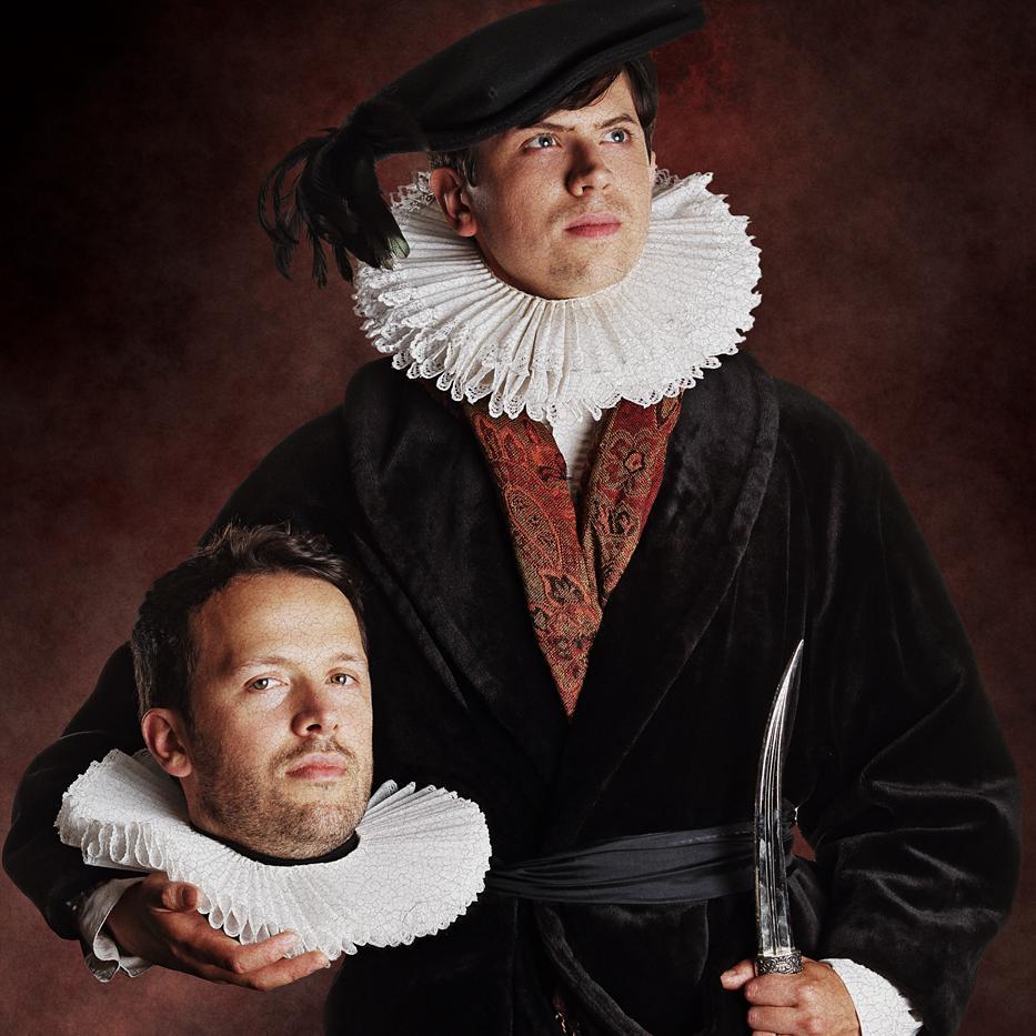 Portrait of Mikey Please & Dan Ojari - creative costume photography by Julian Hanford