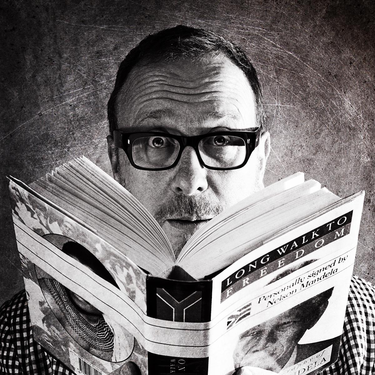 Portrait of Neil Dawson, Exec Creative Director, Nissan United/TBWA by photographer Julian Hanford