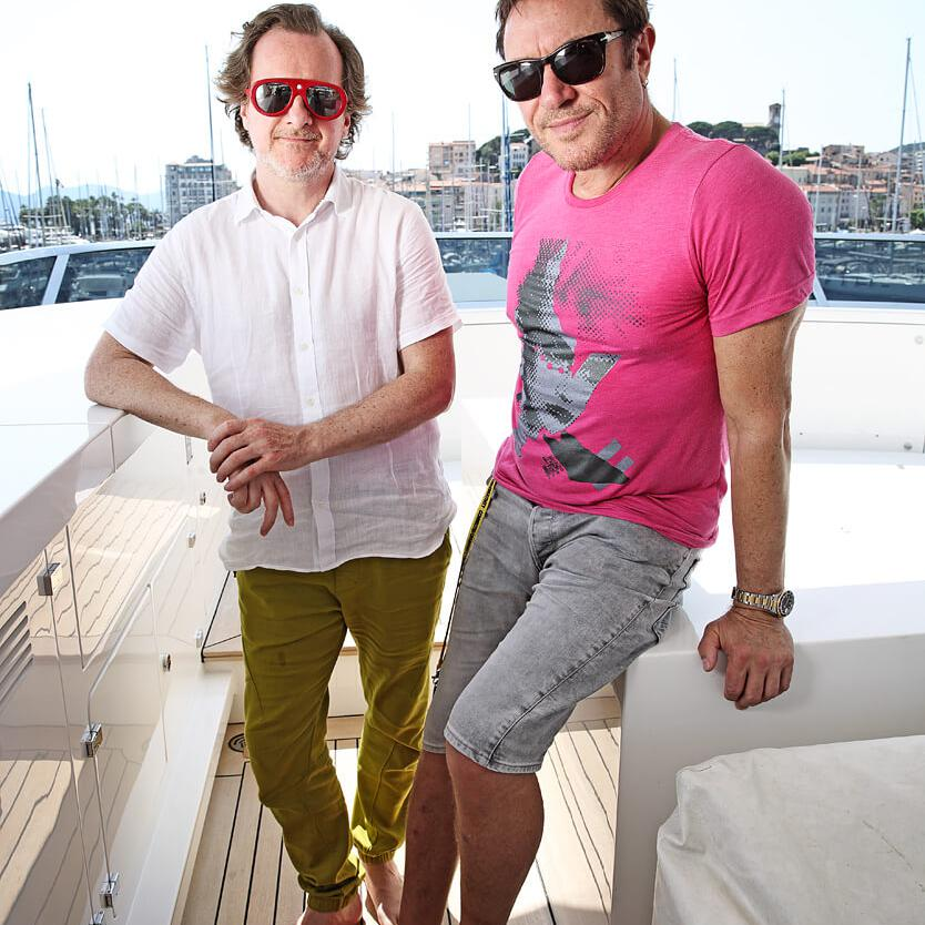 Portrait of Nick Wood and Simon Le Bon by Julian Hanford at Cannes Lions Festival of Creativity 2017