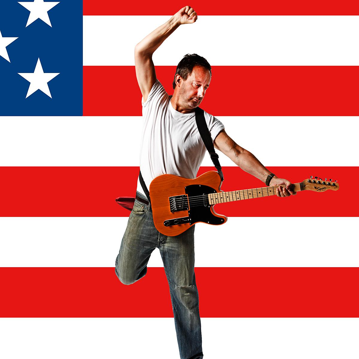 Not Bruce Springsteen by creative photographer Julian Hanford for APA annual feature in Shots Magazine