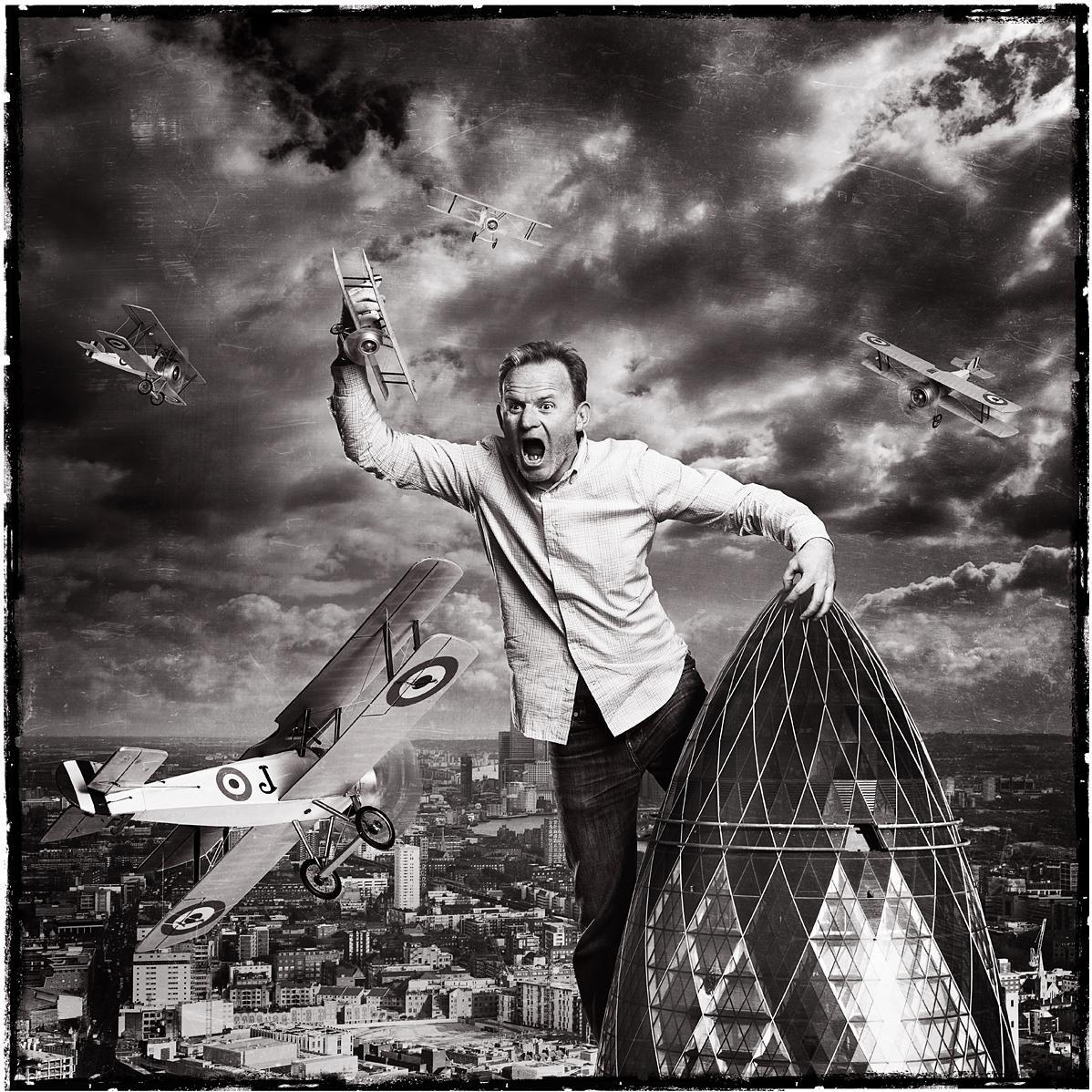 Creative Portrait of Paul Shearer, Exec Creative Director by photographer Julian Hanford