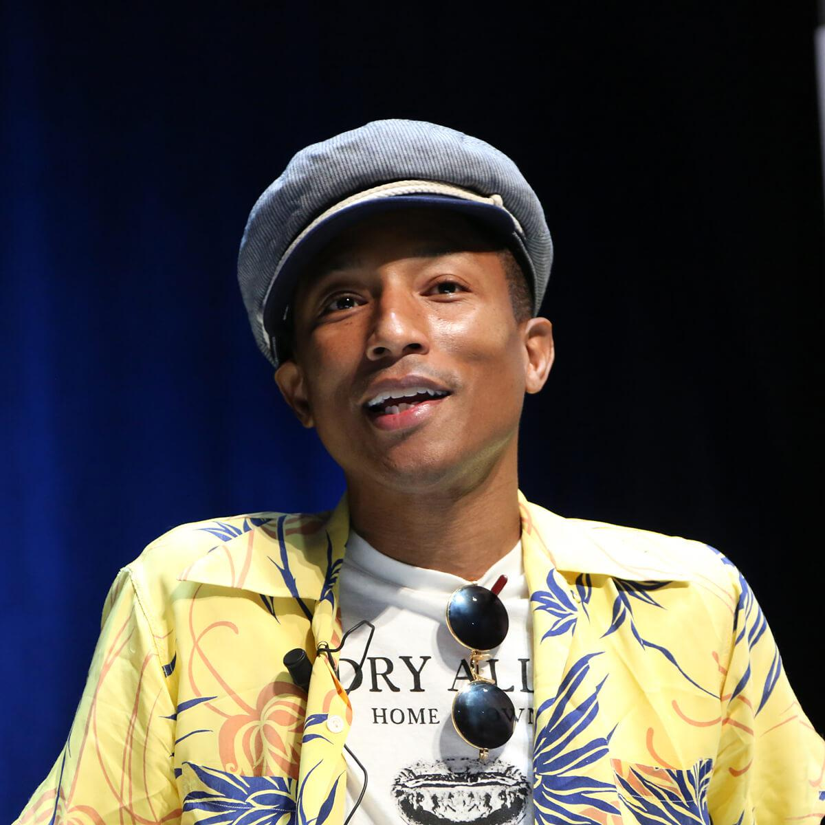 Photograph of musician Pharrell Williams taken by Julian Hanford at Cannes Lions 2017