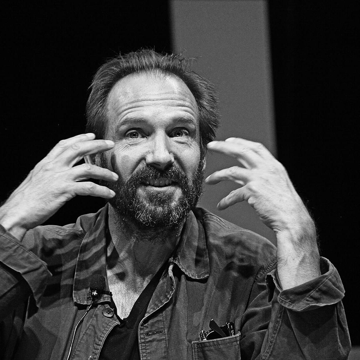 Photograph of English actor, film producer and director Ralph Fiennes by Julian Hanford