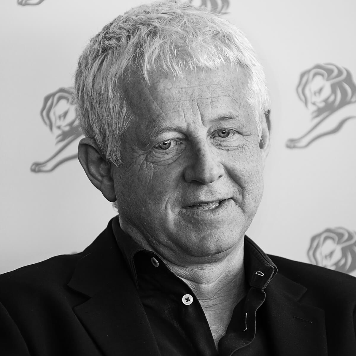 Portrait of Screenwriter Richard Curtis by Julian Hanford at Cannes Lions 2017