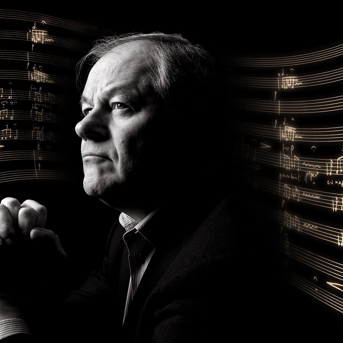 Portrait of Ronald Corp OBE by artistic London photographer Julian Hanford