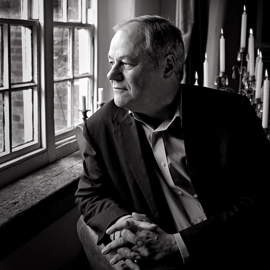Portrait of Ronald Corp OBE (composer) by artistic photographer Julian Hanford