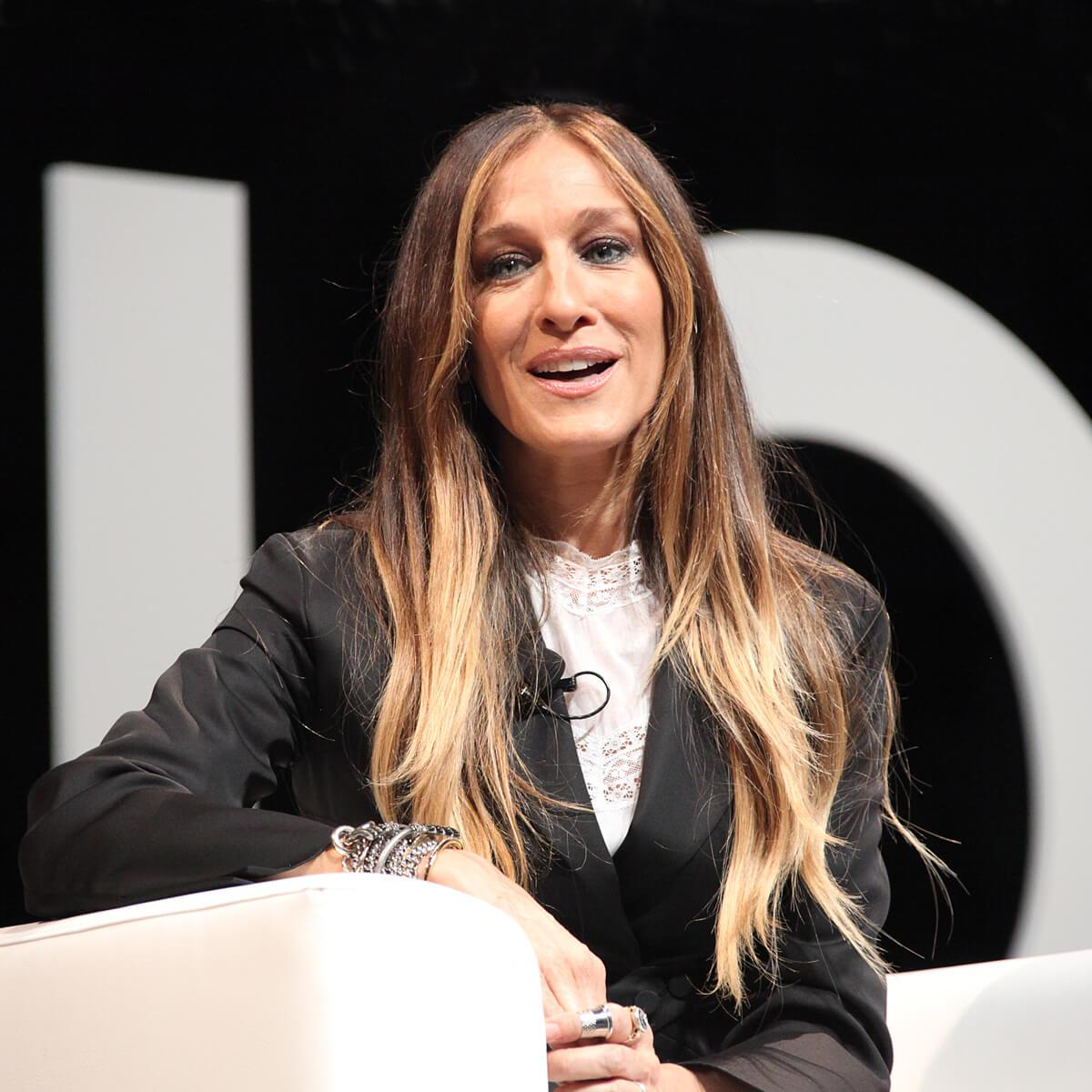 Portrait of American actress Sarah Jessica Parker by Julian Hanford