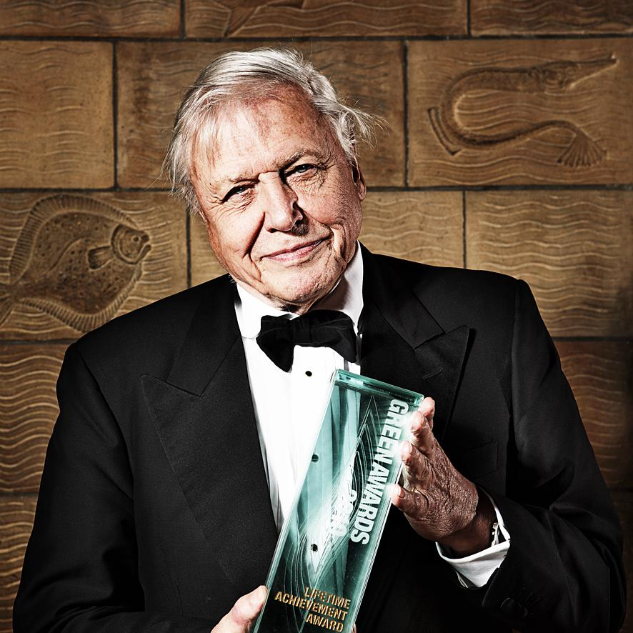 Contemporary Portrait of Sir David Attenborough by photographer Julian Hanford